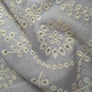 stripe swiss embroidery